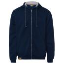Großhandel Fashion & Accessoires: Herren Sweatjacke Hoodie, 2XL, navy