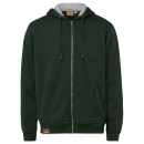 Großhandel Fashion & Accessoires: Herren Sweatjacke Hoodie, L, dunkelgrün