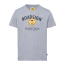 Großhandel Fashion & Accessoires: Herren T-Shirt Roadsign, 2XL, grau melange