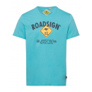 Großhandel Fashion & Accessoires: Herren T-Shirt Roadsign, M, petrol