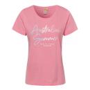 Damen T-Shirt Australian summer , 2XL, koralle