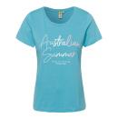 grossiste Vetement et accessoires: dames T-Shirt Été australien , L, aqua