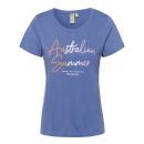 Damen T-Shirt Australian summer , S, mittelblau