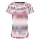 nagyker Ruha és kiegészítők: hölgyek T-Shirt csíkos nyár, S, piros / sötétkék