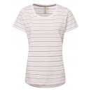 Ladies T-Shirt striped summer, S, lilac-gray
