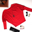 wholesale Shirts & Blouses:Blouse, bat, kimono, red