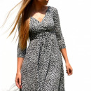 wholesale Fashion & Apparel: Dress, panther, flared, gray