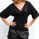 wholesale Shirts & Blouses: Blouse,  translucent, feminine, black