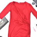 Sukienka, lekka, zwiewna, kobieca, czerwona