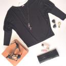 ingrosso Camicie: Camicetta,  pipistrello, kimono, nero
