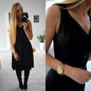 Sukienka, letnia, rozkloszowana, czarna