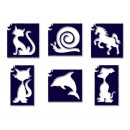 groothandel Piercings & tattoos: Tyto Animal # 1  Glitter Tattoo sterven set 6