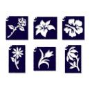 groothandel Piercings & tattoos: Tyto Flower  Glitter Tattoo sterven set 6
