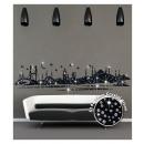 grossiste Stickers mureaux: Istanbul Skyline  Crystal Wall Decal - 195 x 45 cm