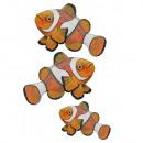 grossiste Stickers mureaux: Clownfish Sticker  mural - Ensemble de 3