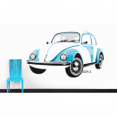 wholesale Wall Tattoos: VW BEETLE WALL TATTOO - BLUE