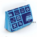 wholesale Travel and Sports Bags: VW T1 BUS NEOPRENE CULTURAL BAG - BLUE