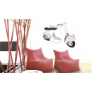 wholesale Wall Tattoos: VESPA ROLLER WALL TATTOO - GRAY