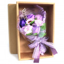 wholesale Gifts & Stationery: Purple Soap Flower Bouquet - Boxed