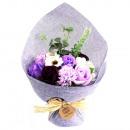 mayorista Salud y Cosmetica: Ramo de flores de jabón de pie - Púrpura
