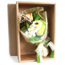 wholesale Gifts & Stationery: Green Soap Flower Bouquet - Boxed