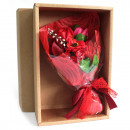 Red Soap Flower Bouquet - Boxed