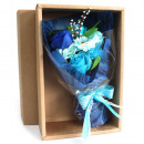wholesale Gifts & Stationery: Blue Soap Flower Bouquet - Boxed