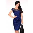 Großhandel Kleider: Kleid mit Spitze - Marineblau