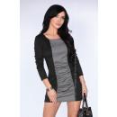 Großhandel Kleider: Kleid mit grauer und schwarzer Falte