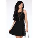 Großhandel Kleider: Kleid mit Spitze - schwarz