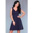 Großhandel Kleider: Kleid mit einem Ausschnitt - Marineblau