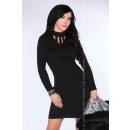 Großhandel Kleider:Fitted Kleid - schwarz