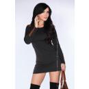 Großhandel Kleider: Kleid mit Dekorationen - schwarz