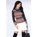 Großhandel Pullover & Sweatshirts: Gemusterter Pullover - schwarz