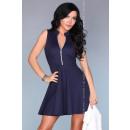Großhandel Kleider: Ausgestelltes Kleid - Marineblau