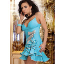 Großhandel Kleider: Kleid mit einer Schleife - Biebieski Farbe