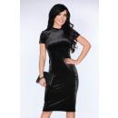 Großhandel Kleider:Velourkleid - schwarz