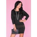 Großhandel Kleider: Kleid mit Gürtel - schwarz