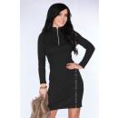 Großhandel Kleider: Kleid mit einem Reißverschluss - schwarz