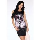 Großhandel Kleider: Kleid - Blumenmuster - schwarz