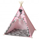 Teepee tent pink with accessories