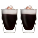 mayorista Casa y cocina: SET 2x vasos de  pared doble de 310 ml, gafas termo