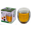 350ml  football   double-walled JUMBO thermo glass