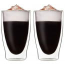 SET 2x 400ml  double-walled  glasses, thermo ...