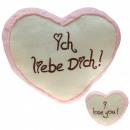 Großhandel Geschenkartikel: Plüschherz Liebesherzen Pink 20 cm