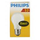 Philiips incandescent / 75W / E27 / forme mate / p