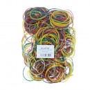 Rubber rings 100 pieces in blue, red, green, yello