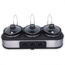 Dunlop Triple Slow Cooker, 3 x 1,3 L, 300 W