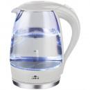 LED vízforraló üveg 1.7L 2200W fehér