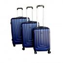 Ecolle luggage set 3 pcs. Blue ABS + TSA lock
